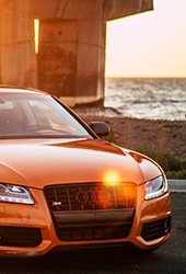 color orange for audi