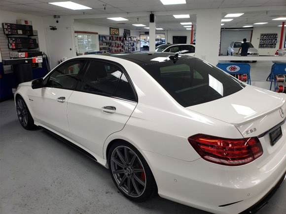 2015 Mercedes E63 global films window tint 50% all around