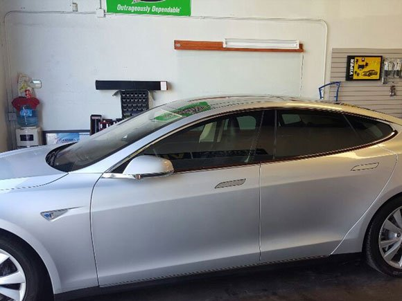 TESLA MODEL S WINDOW TINT 35% ALL AROUND
